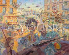Great Family Guns-32x40 Print On Fine Art Paper