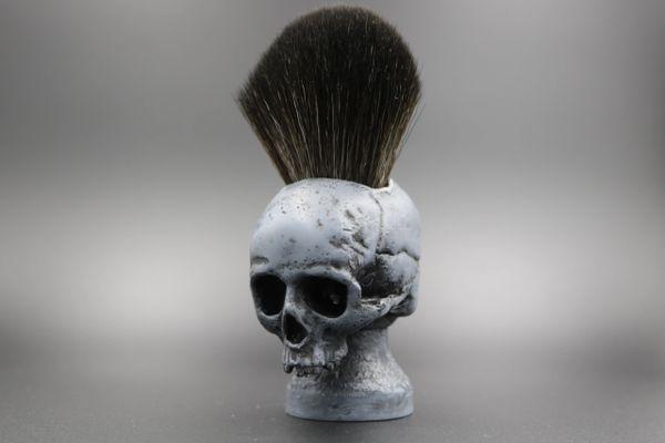skull bone shaving brush local gent shaving co
