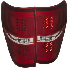 ANZO LED Taillights Red/Clear 2011-2014 Ford F-150
