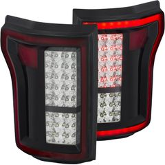 ANZO LED Taillights Black Chrome - 2015-2017 Ford F-150