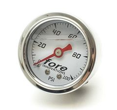 FORE INNOVATIONS Mechanical Fuel Pressure Gauge 1-100psi
