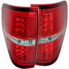 ANZO LED Taillights Red/Clear 2011-2014- Ford F-150