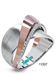 Silver Cigar Band Ring 11337