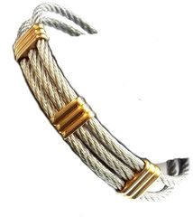 STAINLESS STEEL CABLE BANGLES. SSB50385