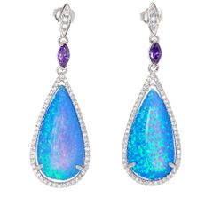 DROP SHAPE OPAL EARRINGS 22OP71