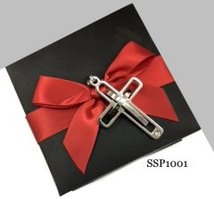 SSP1001 STAINLESS STEEL FANCY CROSS PENDANT