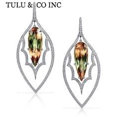 COLOR CHANGEABLE ALEXANDRITE SILVER EARRINGS 22ST25