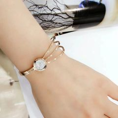 Stainless Steel CZ CRYSTAL ROUND Bangle . SSB50344