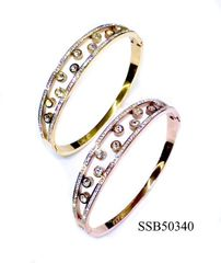 STAINLESS STEEL CRYSTAL BANGLES SSB50340