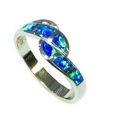 11op18 Silver Opal Ring