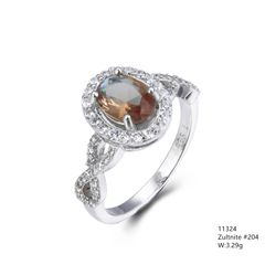 Color changeable Sultnite Silver Ring, 11324