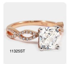 Silver infinity style CZ rings 11325
