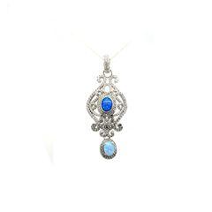 33106 Sterling Silver Vintage Opal Pendant