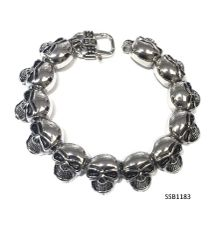 Stainless Steel Skull Head Bracelet,SSB1183