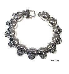 Stainless Steel Skull Head Bracelet,SSB1183