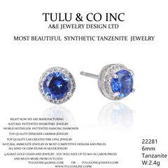 22281 TANZNITE STUD EARRINGS JEWELRY BY TULU & CO