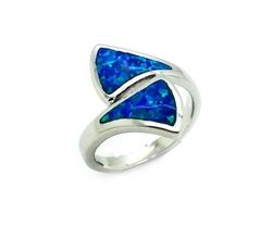 925 SILVER LAB OPAL WHALE TAIL RING -11OP155-K5