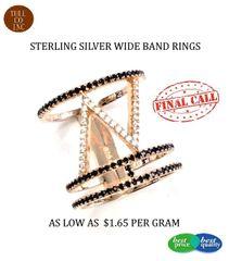 925 SILVER LONG FINGER RINGS- 11CZ37-RH