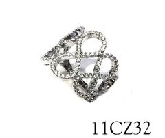 11CZ32 Silver Micro setting infinity ring