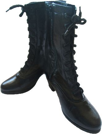 Women Dance Folkloric Boots- Black