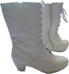 Women Dance Folkloric Boots- White