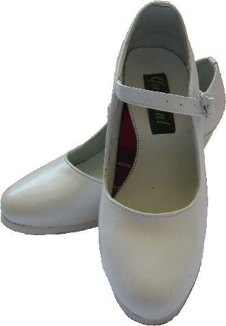 Women Dance Folkloric Shoes - White