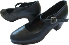 Women Dance Folkloric Shoes (Black & White)
