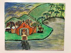 Iglesia de Pueblo Painting