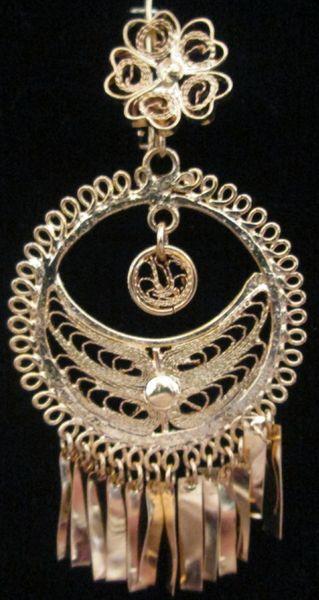 Medium earrings- Round/ Half Moon