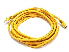 Cable - Cat5e 24AWG UTP Ethernet Network Patch Cable, 14ft Yellow