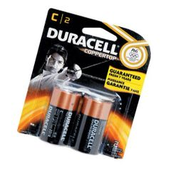Battery - Duracell Coppertop C Duralock 2-Pack