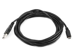 Cable - USB 2.0 A Male to Micro 5pin Male 28/28AWG Cable, 10ft