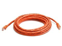 Cable - Cat5e 24AWG UTP Ethernet Network Patch Cable, 14ft Orange