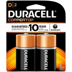 Battery - Duracell Coppertop D Duralock 2-Pack