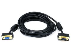 Video - 15ft Ultra Slim SVGA Super VGA 30/32AWG M/F Monitor Cable w/ ferrites (Gold Plated Connector)