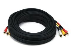 Video - RCA Coaxial Composite Video and Stereo Audio Cable, 25ft