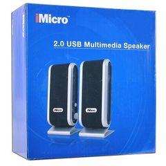Audio - 2-Piece 2 Channel USB Powered Multimedia Speaker Set w/Headphone Jack (Black/Silver)