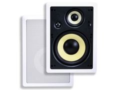 8-inch Kevlar 3-Way High Power In-Wall Speaker (Pair) - 100W Nominal, 200W Max