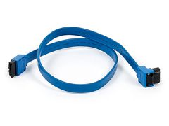 PC - 18inch SATA 6Gbps Cable wLocking Latch (90 Degree to 180 Degree) - Blue