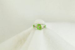 Sterling silver gaspeite and white opal inlay ring. R149