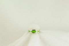 Sterling silver gaspeite and white opal inlay ring. R142