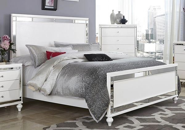 5 Piece White Bed Bed Set from the Alonzo Collection (MMIDSXE1845 ...