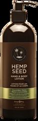 Cucumber Melon Hemp Seed Hand and Body Lotion 16 oz pump