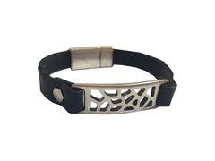 Geometric Design all leather Bracelet