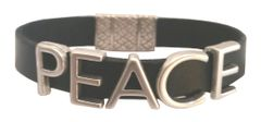 PEACE LETTER all leather Bracelet