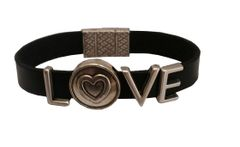 Love with Heart all leather Bracelet
