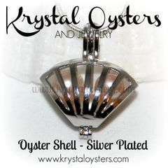 Oyster Shell Cage - Silver Plated