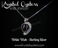 White Wish Pendant - Sterling Silver