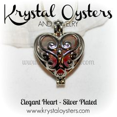 Elegant Heart Cage- Silver Plated
