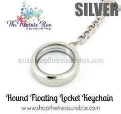 Round Floating Locket Keychain
